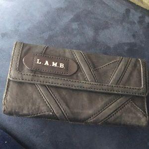 LAMB black leather wallet